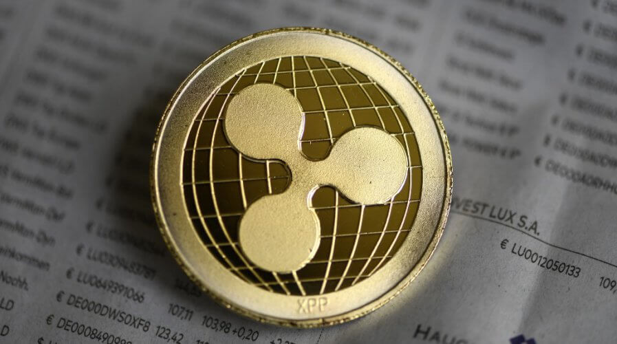 A physical representation of a Ripple cryptocurrency.