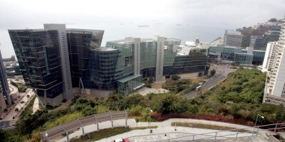 Overview of Hong Kong's Cyberport, home to some of the emerging fintech startups in the region.