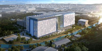 Facebook's 170,000-square-meter data center under construction in Singapore.