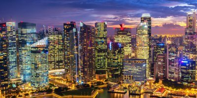 Singapore's business district, the most prepared in Asia Pacific when it comes to cyber threats