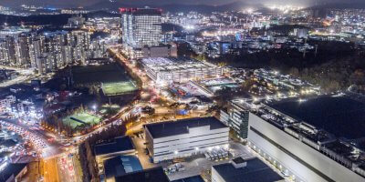 Overview of Samsung Electronics 'Nano city Hwasung Campus' South Korea's smart factory sector has been affected by COVID-19.